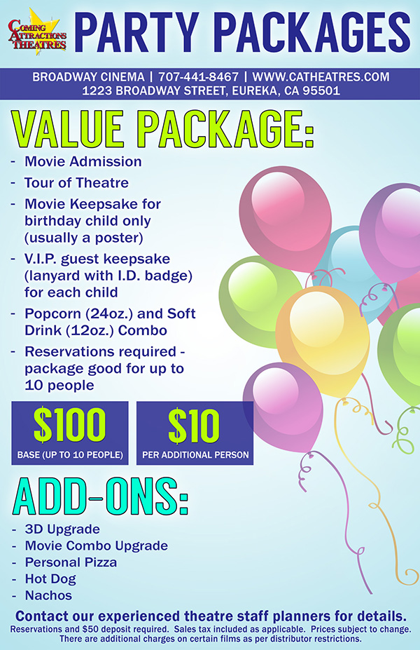 Party Package Broadway Cinema
