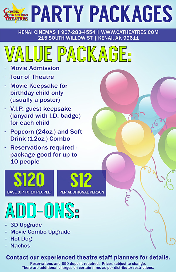 Party Package Kenai Cinemas