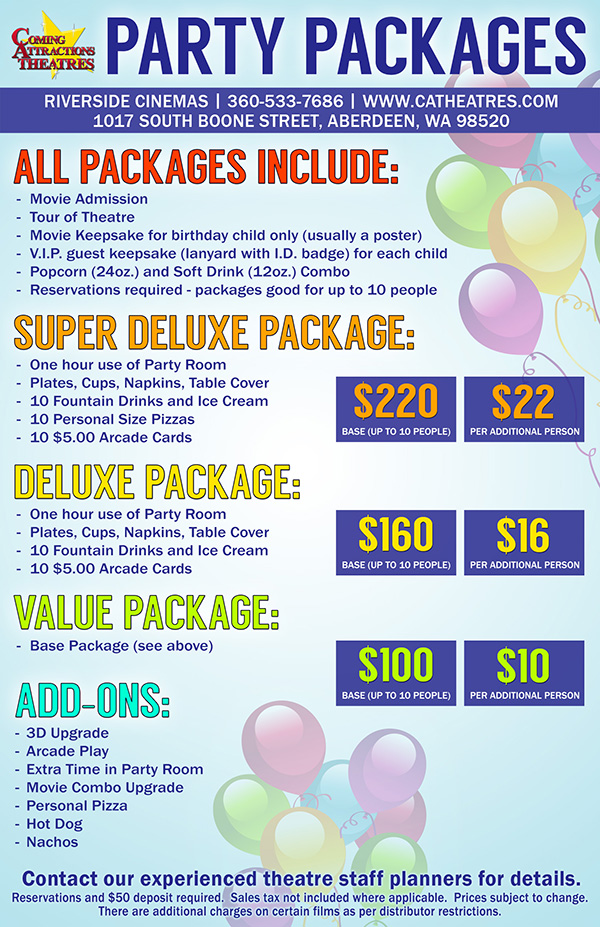 Party Package Riverside Cinema