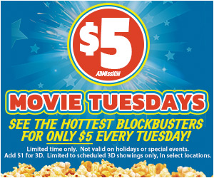 5 Dollar Movie Tuesdays 300x250
